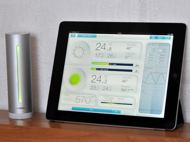 netatmo Urban Weather Station with iPad