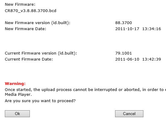 DS8800W firmware update