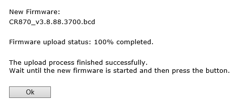 DS8800W firmware update