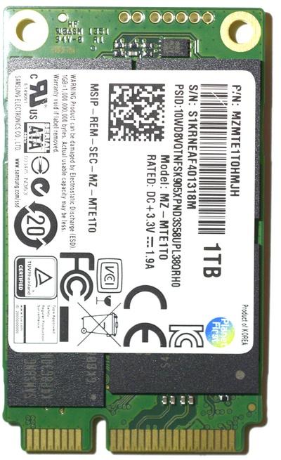 Samsung SSD 840EVO mSATA