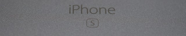 S letter on iPhone 6S
