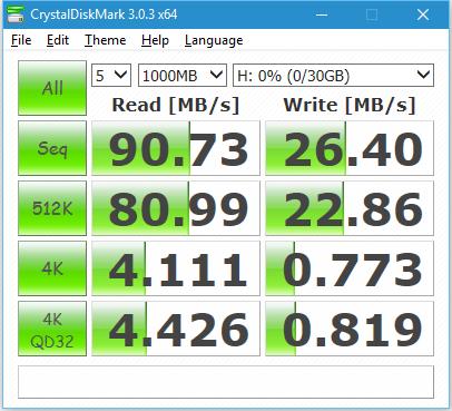 CrystalDiskMark 3 Pretec MicroSDHC 32GB